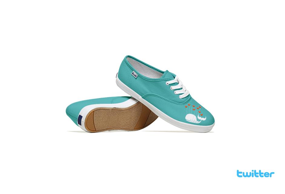 *Lumen Bigott設計的社群網站聯名鞋:Keds & Social Media 4